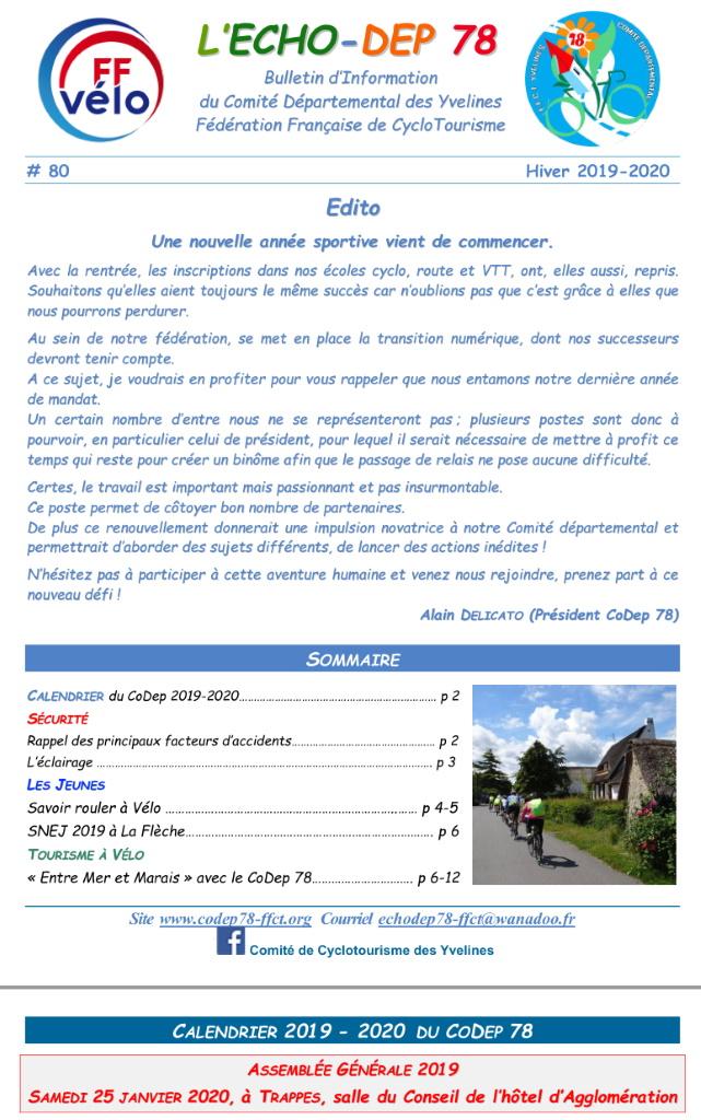 Calendrier Cyclo 2020.Ffvelo Codep 78 Ffvelo 78